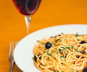 pasta паста с вином