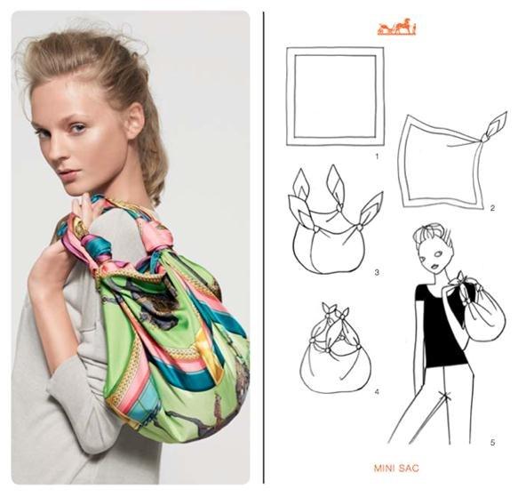 Вы просматриваете изображения у материала: Платки: от топа до сумки. Фотопримеры.